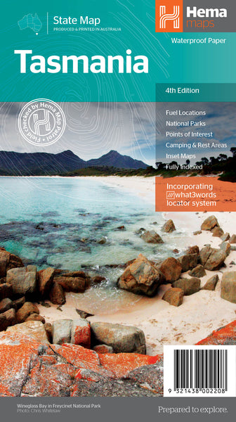 Product Overview of the NEW Tasmania State Map (Fourth Edition) from Hema Maps