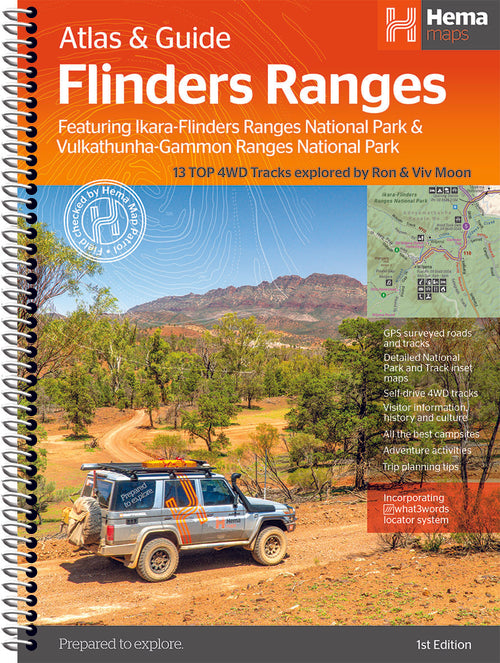A Product Overview of the Brand NEW Flinders Ranges Atlas & Guide (First Edition) from Hema Maps