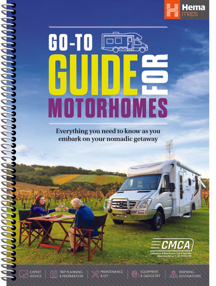 A Product Overview of the Brand NEW Go-To Guide for Motorhomes (First Edition) from Hema Maps - March 2021