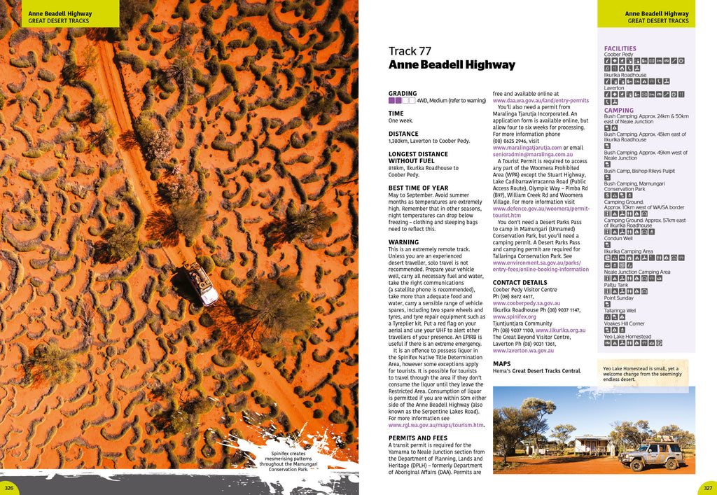 4WD Adventures Hema Maps Chapter 14- Great Desert Tracks- Track 77 Anne Beadell Highway- pages 326-327.jpg