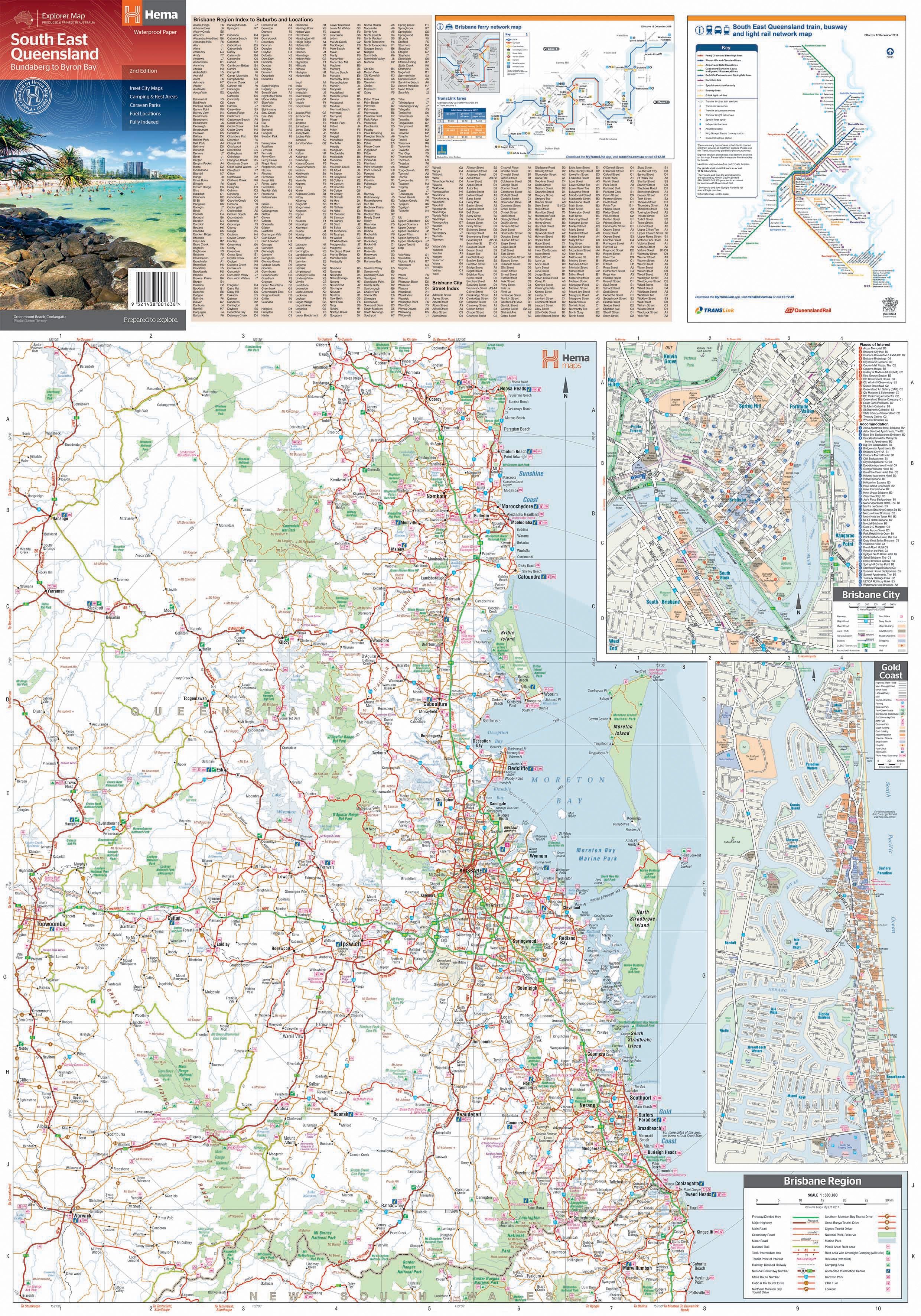 South East Queensland Map Ed2 Cover Side