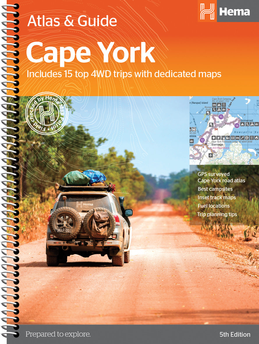 Product Overview of the Cape York Atlas & Guide from Hema Maps