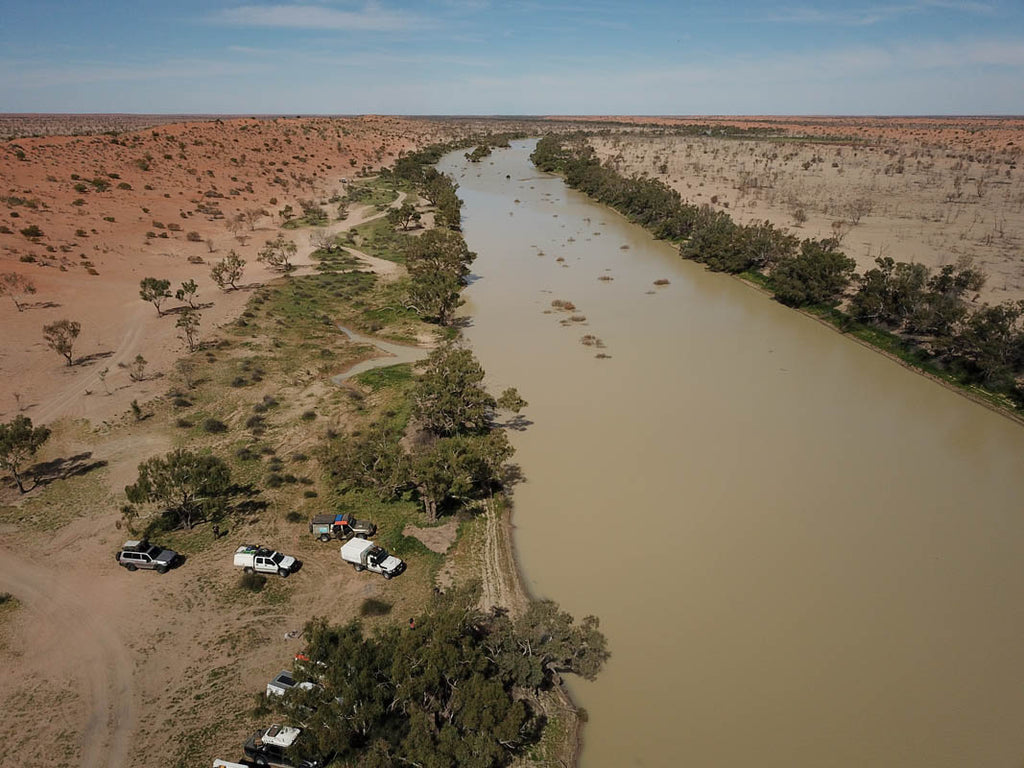 Eyre Creek is a magic sight when it has water, driving the Madigan Line