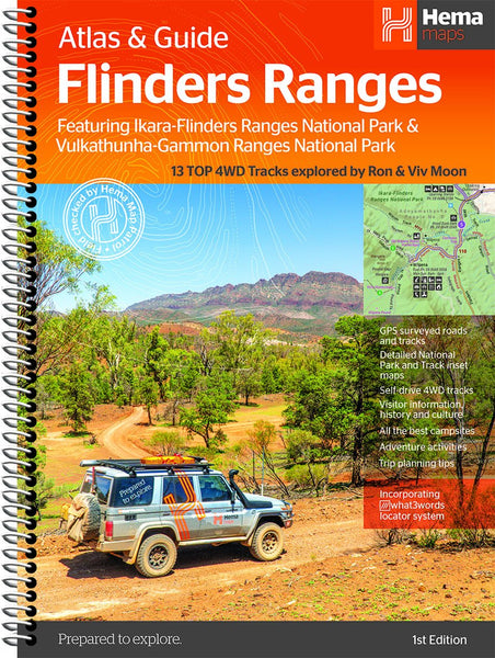 Brand new first edition release of the Flinders Ranges Atlas & Guide