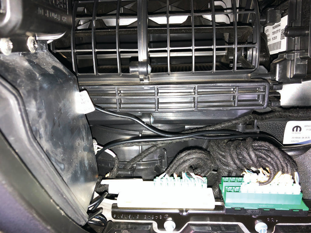 Most 4WDs will have a similar set up when accessing  the cabin filter