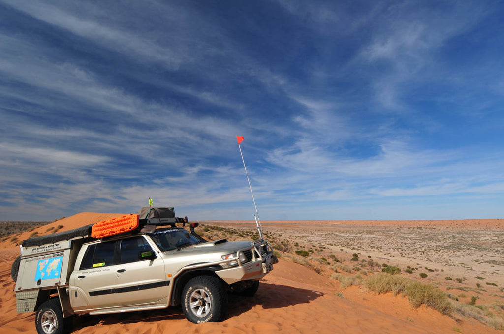 On top of the big red dunes