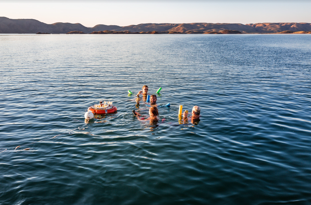 A sunset cruise on Lake Argyle also includes drinks while you swim.