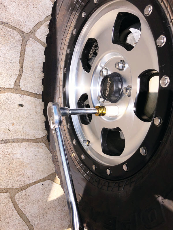 Use a torque wrench even on your wheel studs