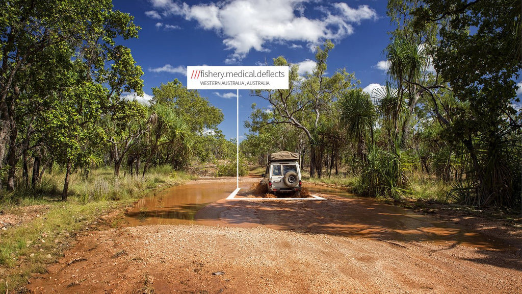 a what3words address. ///fishery.medical.deflects, for example, is the what3words address of an exact spot in the Kimberley, Western Australia.