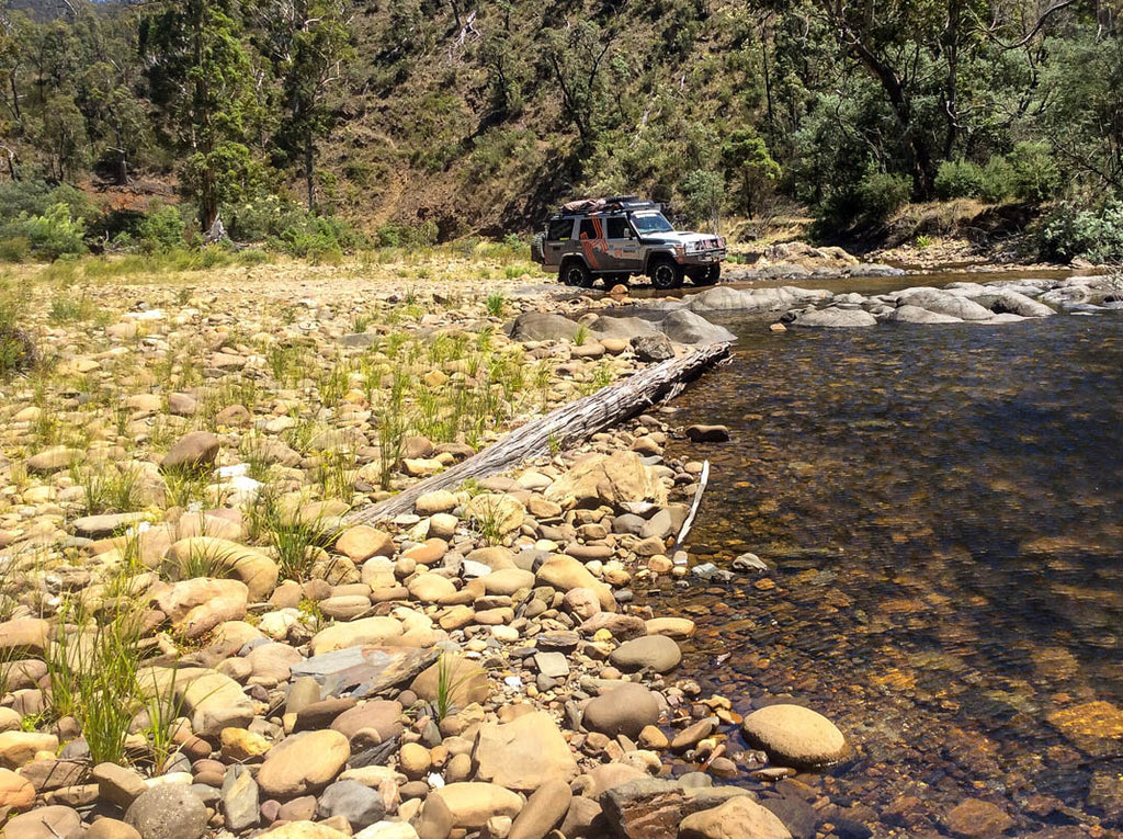 Wonnangatta River crossing Blue Rag Range Track Hema Maps Hema's Top 5 Victorian High Country 4X4 drives