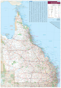 Queensland State Supermap - 1000x1430 - Laminated