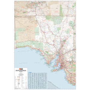 South Australia State Map Laminated 700x1000mm
