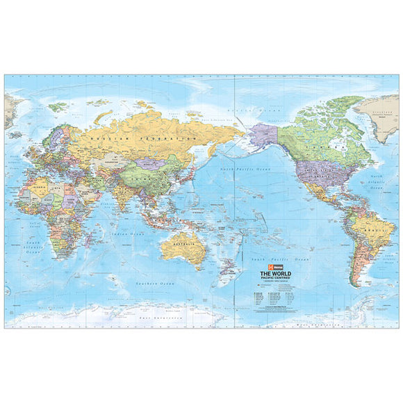 World Mega Map Laminated 2320x1460mm