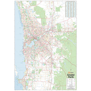 Perth & Region Map - 700x1000 - Laminated