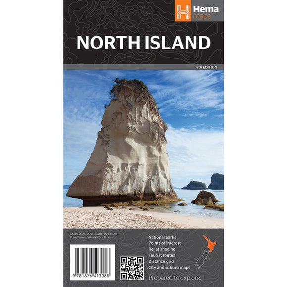 North Island New Zealand Map OE