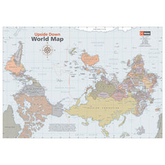 Upside Down World Classic Map Unlaminated 841x594mm