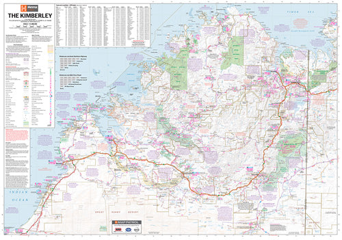 Kimberley Supermap - 1430x1000 - Laminated