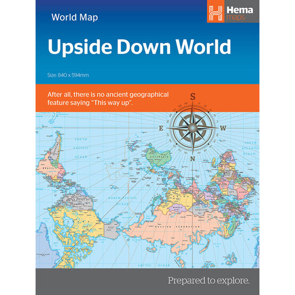 Upside Down World in Envelope Folded Map