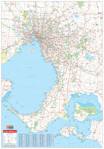 Melbourne & Region Map - 700x1000 - Laminated