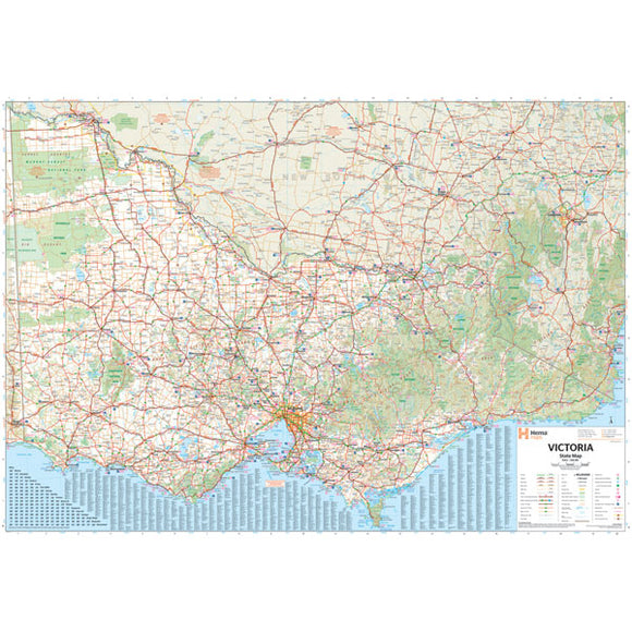 Victoria Supermap Laminated 1000x1400mm
