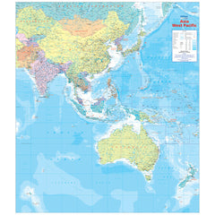 Asia West Pacific Map Unlaminated 875x1000mm