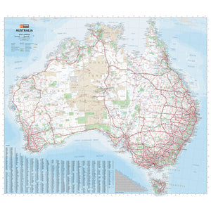 Australia Large Map Unlaminated 1000x875mm