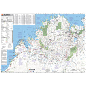 Kimberley Supermap Unlaminated 1400x1000mm