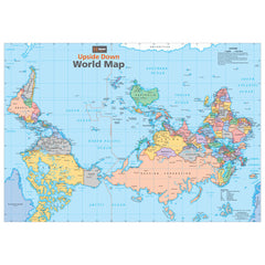 Upside Down World Map Unlaminated 840x594mm