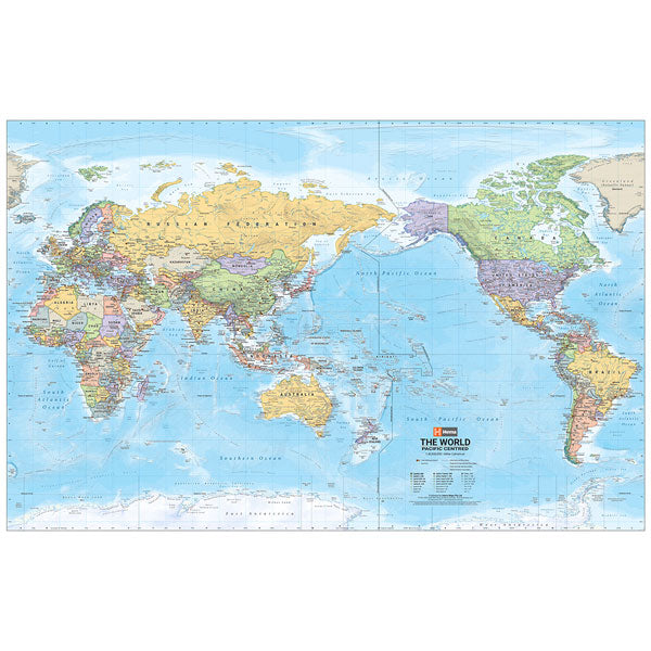 World Supermap Unlaminated 1520x990mm - Hema Maps