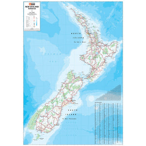 New Zealand Map Unlaminated 700x1000mm