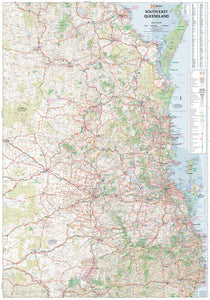 South East Queensland Supermap - 1000x1430 - Laminated