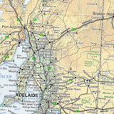 Australia Road & Terrain Map - 1000x875 - Laminated