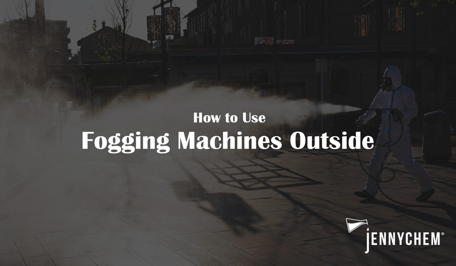 How to use fogging machine outside