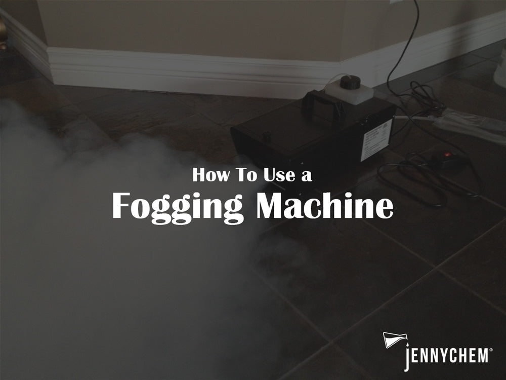 How to use a fogging machine to disinfect