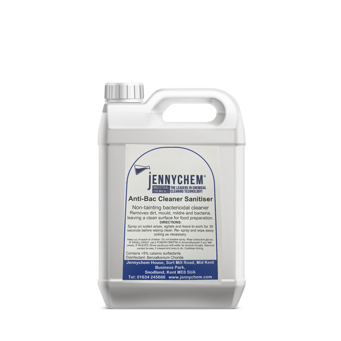 Anti-bacterial/virus cleaner and sanitiser 5L - JENNYCHEM