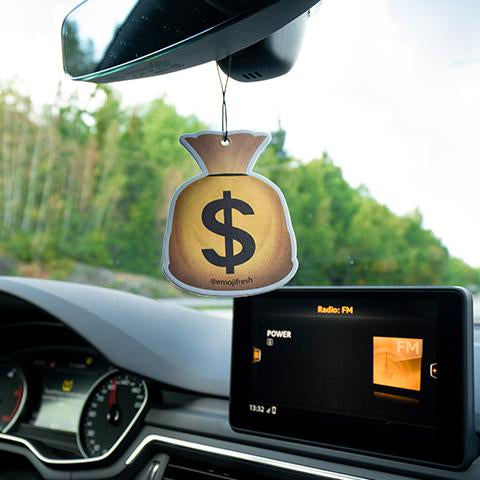 Bag Of Cash Emoji Car Air Freshener