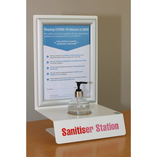 Table Top Sanitiser Dispenser Unit ( Includes 1X500ml Gel )  - JENNYCHEM