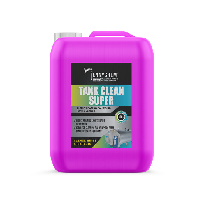 Tank Clean Super - Highly Foaming Sanitiser and Degreaser 25LTR - JENNYCHEM