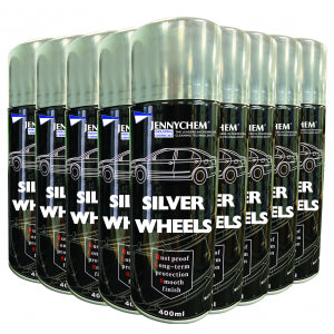 Silver Wheels Aerosol Paint CASE OF 12 X 500ML - JENNYCHEM