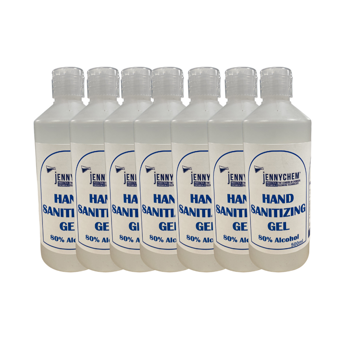 80% Alcohol Hand Sanitiser Gel With Flip Top - 12 X 500ML  - JENNYCHEM