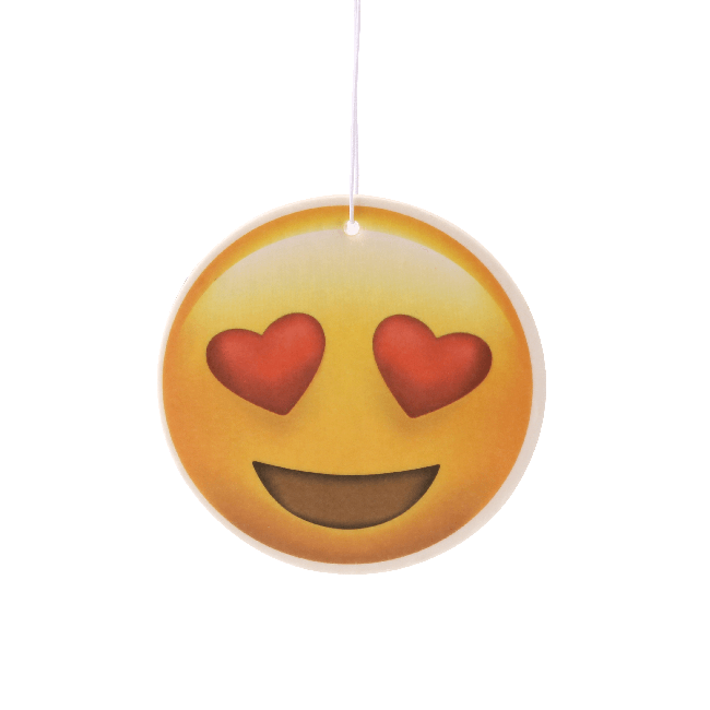 Heart Eyes Emoji Car Air Freshener x2 With Retail Packaging  - JENNYCHEM