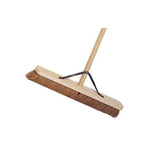 Heavy Duty Platform Broom (Basine hard) Handled and Stayed  - JENNYCHEM