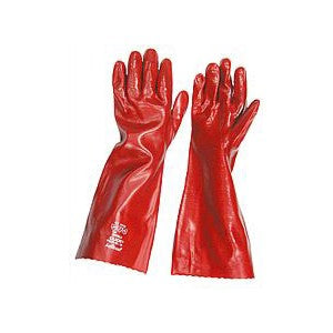 "PVC 18"" OPEN CUFF GAUNTLET GLOVES  - JENNYCHEM"