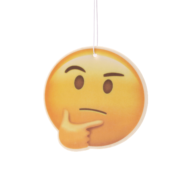 Thinking Face Emoji Car Air Freshener x2 With Retail Packaging  - JENNYCHEM
