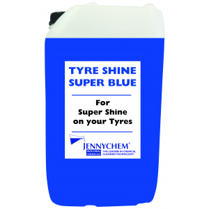Tyre Shine Super Blue - Lasts 1 Week! 25LTR / BLUE - JENNYCHEM
