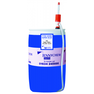 Tyre Shine Super Blue - Lasts 1 Week! 210LTR / BLUE - JENNYCHEM