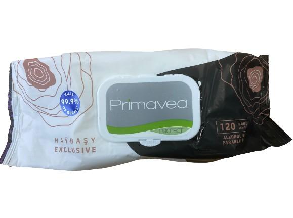 Primavea Anti Bacterial and Virucial Wipes - Pack of 120 Wipes