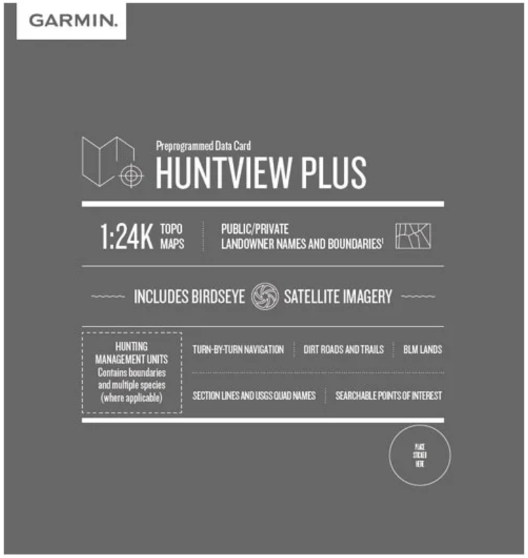 Garmin HuntView Plus Maps Micro SD v2019