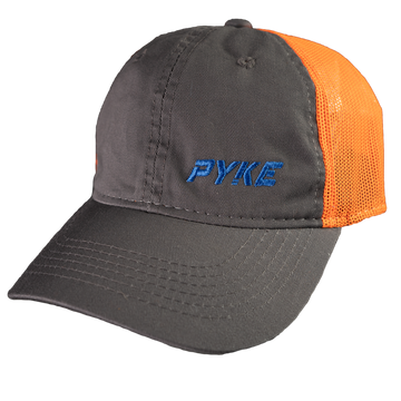 Pyke Logo Gray and Orange Ball Cap