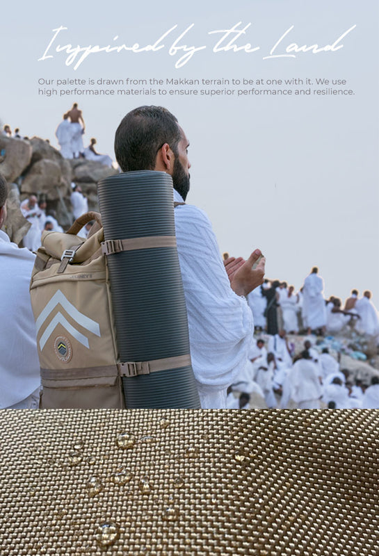 Hajj Ihram, Money Belt and Backpack with mat in Makkah - FEJ Gear